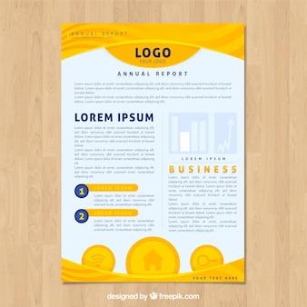 Design de relatório anual em estilo simples