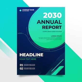 Design de relatório anual moderno azul