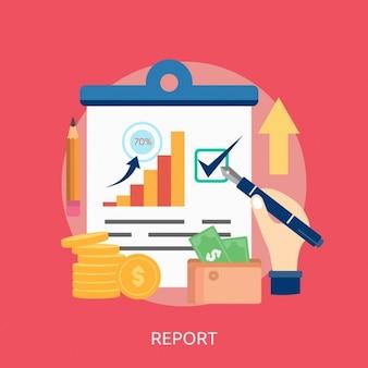 Design de relatório de fundo