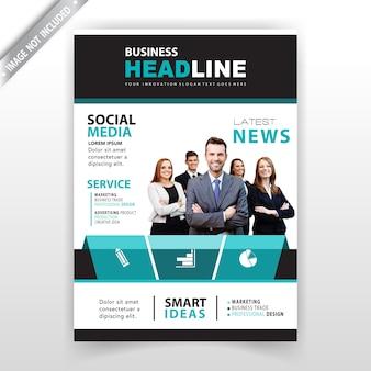 Design de revista de negócios corporativos
