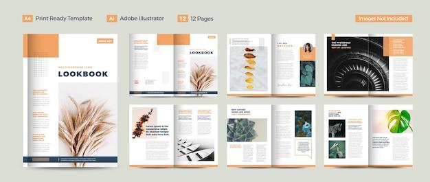 Design de revista multiuso ou urban lookbook design ou digital ebook design