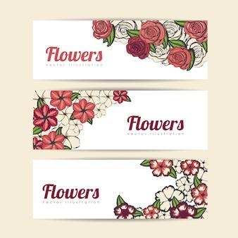 Design de rosas e flores