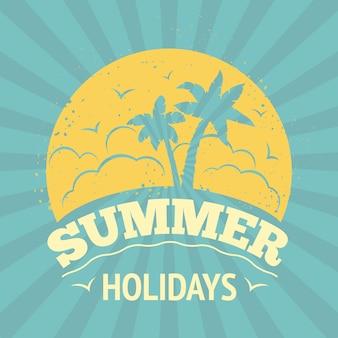 Design de rotulação de férias de verão