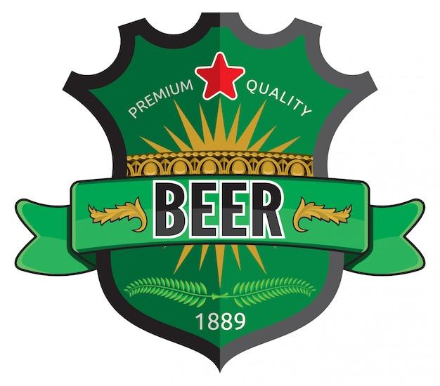Design de rótulo de cerveja