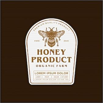 Design de rótulo de logotipo de produto de mel