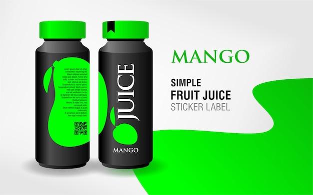 Design de rótulo de suco de fruta