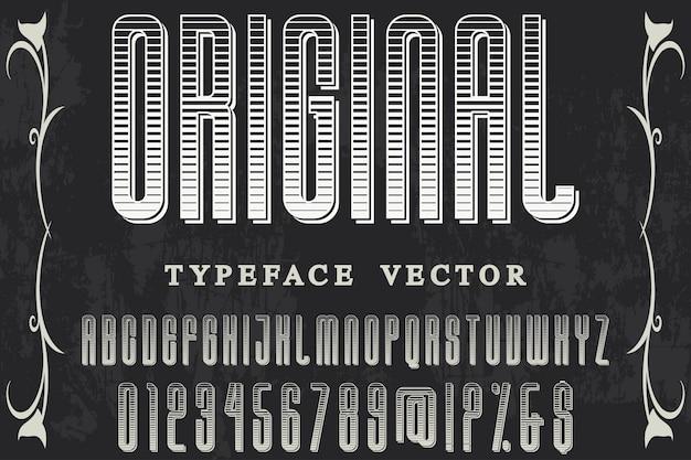 Design de rótulo de tipografia original