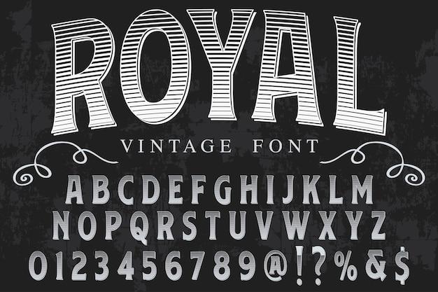 Design de rótulo de tipografia real