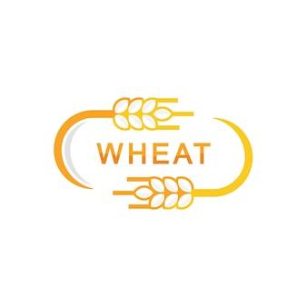 Design de rótulo de trigo para pão logo