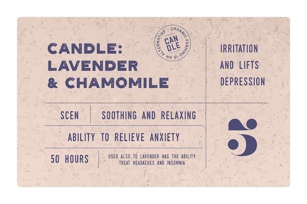Design de rótulo de vela vintage