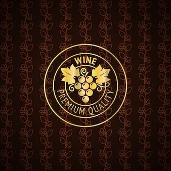 Design de rótulo de vinho de ouro