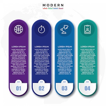 Design de rótulo infográfico criativo