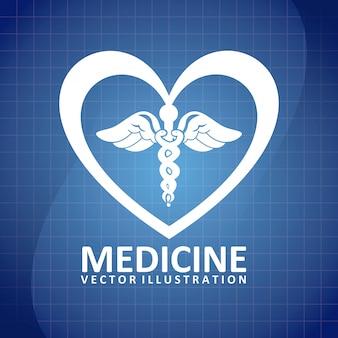 Design de rótulo médico, gráfico de vetor ilustração eps10