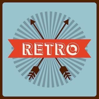 Design de rótulo retrô, gráfico de vetor ilustração eps10