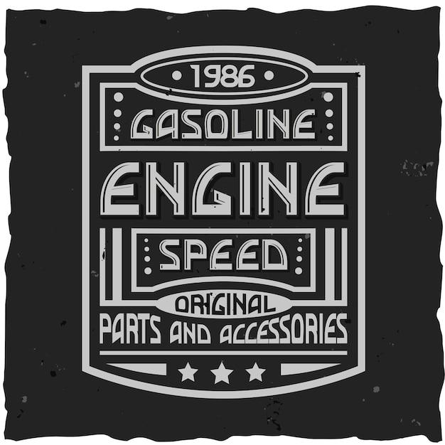 Design de rótulo vintage com composição de letras em design de camiseta de fundo escuro