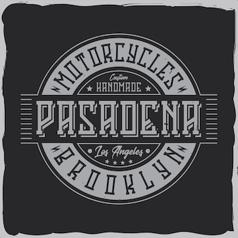 Design de rótulo vintage com composição de letras no escuro. design de camiseta.