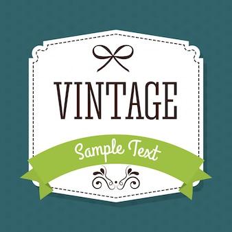 Design de rótulo vintage e retrô.