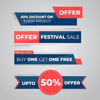 Design de rótulos de oferta de venda diferente