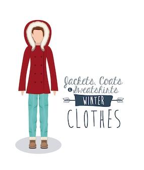 Design de roupas de inverno