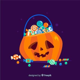 Design de saco de halloween plana
