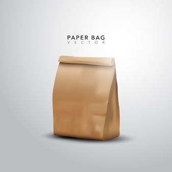 Design de saco de papel realista