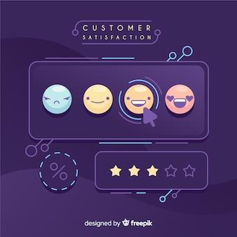Design de satisfação do cliente em estilo simples