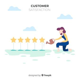 Design de satisfação do cliente moderno