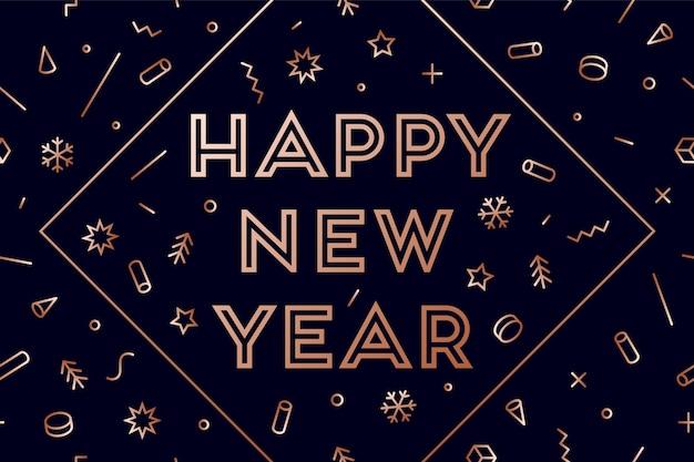 Design de saudação de feliz ano novo
