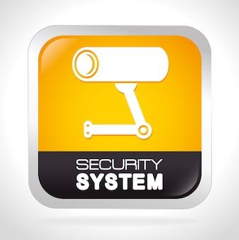 Design de segurança, ilustração vetorial.