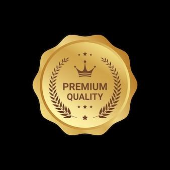 Design de selo de qualidade premium
