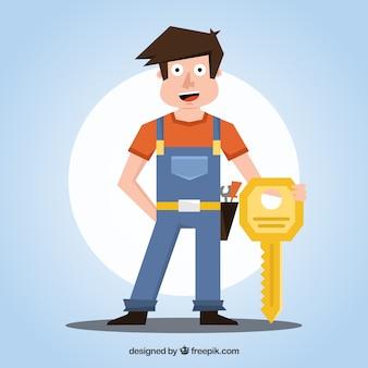 Design de serralheiro de design plano
