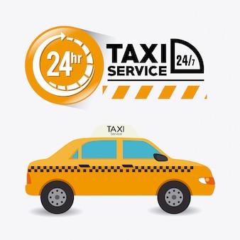 Design de serviço de táxi.