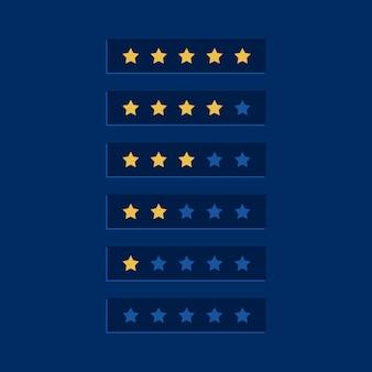 Design de símbolo de classificação estrela azul