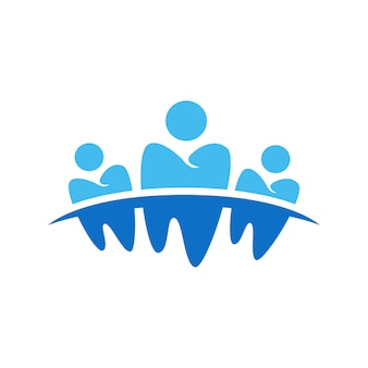 Design de símbolo odontológico de negócios