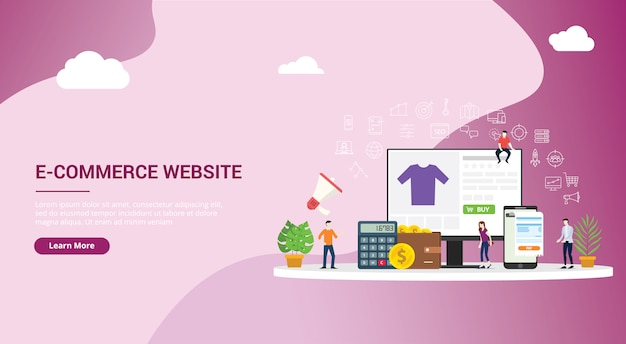 Design de site de compras on-line e-commerce