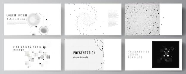 Design de slides de apresentação, fundo abstrato de tecnologia