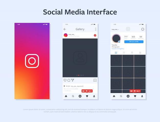 Design de smartphone com interface de aplicação