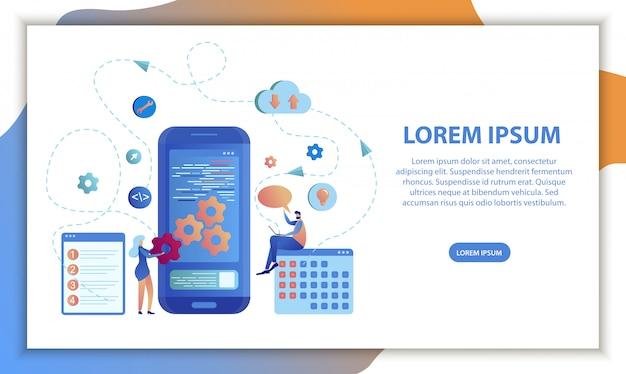 Design de software de calendário de aplicativos para dispositivos móveis