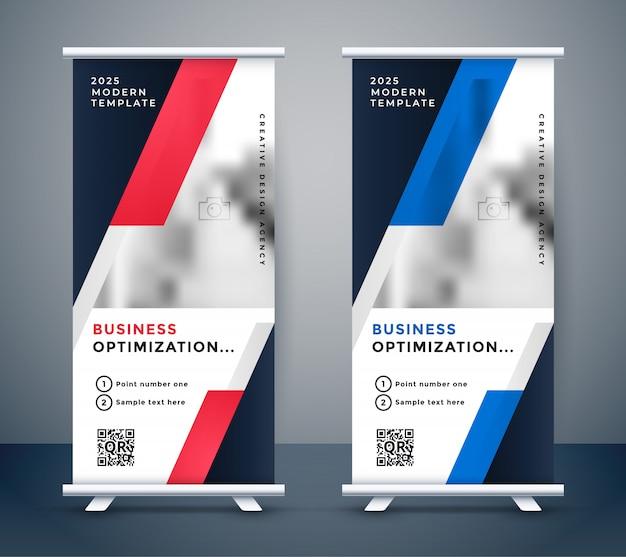 Design de standee vertical de negócios modernos