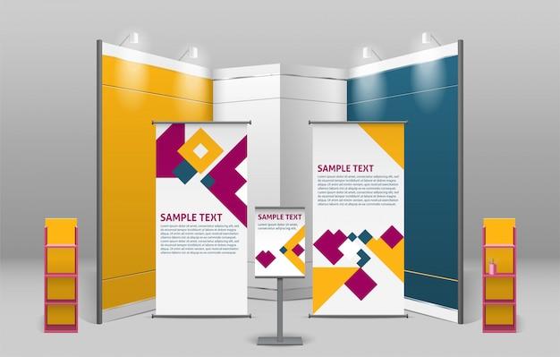 Design de stands de exposição de publicidade