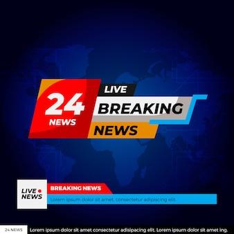 Design de streaming de notícias de última hora