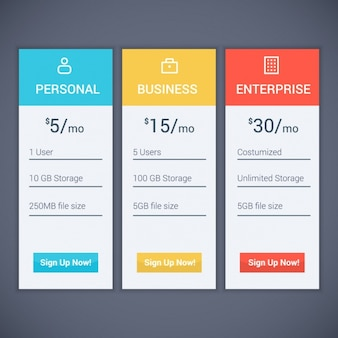 Design de subscrição plano