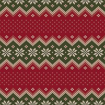Design de suéter de natal padrão de tricô sem costura