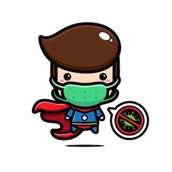 Design de super-herói usando uma máscara