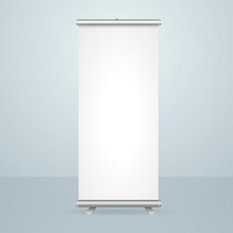 Design de suporte em branco para banner de enrolar isolado