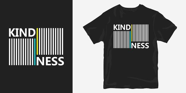 Design de t-shirt bondade na moda com linhas abstratas geométricas