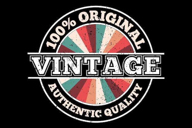 Design de t-shirt com qualidade original vintage em retro Vetor Premium