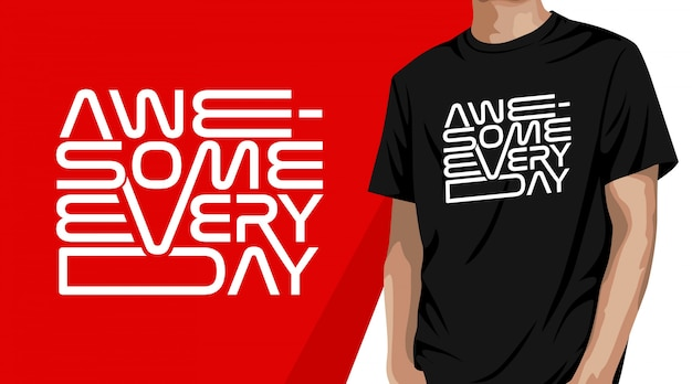 Design de t-shirt com tipografia incrível