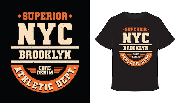 Design de t-shirt com tipografia superior de nova york