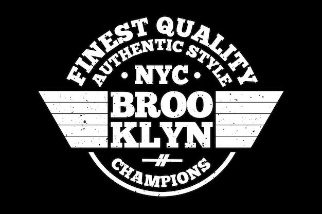 Design de t-shirt com tipografia vintage dos melhores campeões do brooklyn